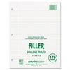 "Roaring Spring Recycled Filler Paper - 170 Sheets - Printed - 15 lb Basis Weight - Letter 8.50"" x 11"" - White Paper - Recycled - 170 / Pack"