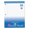 "Roaring Spring 3-Hole College Ruled Filler Paper - 300 Sheets - Printed - 15 lb Basis Weight - 8.50"" x 11"" - White Paper - 300 / Pack"