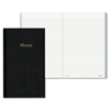 "Blueline Memo Book - 50 Sheets - Printed 4"" x 6.75"" - White Paper - Black Cover - Recycled - 5 / Each"