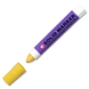 Solid Paint Marker - 13 mm Point Size - Yellow - Plastic Barrel - 1 Each