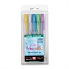 Sakura of America Metallic Gel Ink Pen - Assorted Gel-based Ink - 5 / Pack