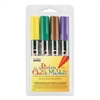 Marvy Bistro Chalk Marker - 6 mm Point Size - Point Point Style - Green, Yellow, Brown, Violet Water Based Ink - 1 / Pack
