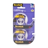 "Scotch 3/4"" Double Pack GiftWrap Tape - 0.75"" Width x 50 ft Length - 1"" Core - Dispenser Included - Handheld Dispenser - 2 Roll - Clear"