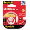 "Scotch MultiTask Tape - 0.75"" Width x 54.17 ft Length - 1"" Core - Transparent, Glossy - Dispenser Included - Handheld Dispenser - 1 Each - Clear"