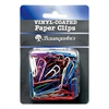 "Baumgartens Assorted Color Vinyl Paper Clips - Jumbo - 2"" Length - Skid Resistant - 40 Pack - Assorted - Vinyl"