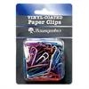 """Baumgartens Skid Resistant Paper Clip - Standard - 1.4"""" Width - 100 Pack - Assorted - Vinyl"""