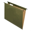 "SureHook Reinforced Hanging Folder - Letter - 8 1/2"" x 11"" Sheet Size - 1/5 Tab Cut - Green - 20 / Box"