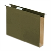 "Pendaflex Extra Capacity 2"" Hanging File Folders - Letter - 8 1/2"" x 11"" Sheet Size - 2"" Expansion - 1/5 Tab Cut - Green - 3.70 lb - 20 / Box"
