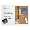 "Quartet Dry Erase Combination Board - 17"" (1.4 ft) Width x 11"" (0.9 ft) Height - White Surface - Rectangle - 1 Each"