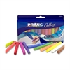 "Dixon Gallery Ambrite Colored Chalk - 3.2"" Length - 0.4"" Diameter - Assorted - 12 / Box"