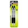 Zebra Pen Z-grip Max Retractable Ballpoint Pens - Medium Point Type - 1 mm Point Size - Black - Gray Barrel - 2 / Pack