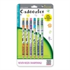 Zebra Pen Cadoozles Mechanical Pencil - #2 Lead Degree (Hardness) - 0.7 mm Lead Diameter - Refillable - Assorted Wood Barrel - 6 / Pack