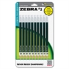 Zebra Pen #2 Mechanical Pencil - #2 Lead Degree (Hardness) - 0.7 mm Lead Diameter - Refillable - Black Wood Barrel - 10 / Pack