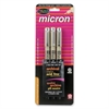 Sakura of America Permanent Marker - 0.3 mm, 0.4 mm, 0.5 mm Point Size - Black - 3 / Set