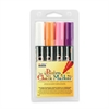 Marvy Bistro Chalk Marker - 6 mm Point Size - White, Fluorescent Orange, Fluorescent Violet, Fluorescent Pink Water Based Ink - 4 / Pack