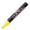 Marvy Bistro Chalk Marker - 6 mm Point Size - Point Point Style - Fluorescent Yellow Water Based Ink - 1 Each