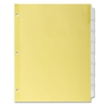 "Kleer-Fax Commercial Insertable Index Divider - 8 Tab(s) - 8.50"" Divider Width x 11"" Divider Length - Letter - 3 Hole Punched - Canary Divider - Clear Plastic Tab(s) - 8 / Set"