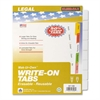 "Kleer-Fax Laminated Tab Write-on Index Dividers - 8 Write-on Tab(s) - 8.5"" Divider Width x 11"" Divider Length - Letter - 3 Hole Punched - White Divider - Plastic Tab(s) - 8 / Set"