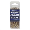 Baumgartens Golden Paper Clip - Jumbo - 40 Pack - Gold - Metal