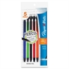 Paper Mate Write Bros Mechanical Pencil - 0.7 mm Lead Diameter - Refillable - Black, Blue, Green, Orange, Red, Yellow Barrel - 5 / Pack
