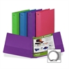 "Samsill Value Storage Binder - 1 1/2"" Binder Capacity - Letter - 8 1/2"" x 11"" Sheet Size - 3 x Ring Fastener(s) - 1 Inside Front & Back Pocket(s) - Assorted - Recycled - 1 Each"