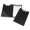 "Professional Pad Holder with Clip - 8.5"" x 5.5"" - Vinyl - 1 Each - Black"