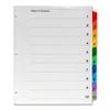 """Numerical Binder Index Divider - Printed Tab(s) - Digit - 1-10 - 10 Tab(s)/Set - 8.50"""" Divider Width x 11"""" Divider Length - Letter - 3 Hole Punched - Assorted Divider - 10 / Set"""