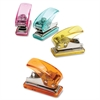 "Baumgartens Mini Hole Punch - 1 Punch Head(s) - 1/4"" Punch Size - 3.5"" x 2"" x 3"" - Assorted"