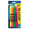 Avery Hi-Liter Fluorescent Pen Style Highlighters - Chisel, Point Point Style - Fluorescent Yellow, Pink, Orange, Green - 4 / Set