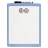 "Dry Erase Board - 11"" (0.9 ft) Width x 8.5"" (0.7 ft) Height - White Stainless Steel Surface - Assorted Plastic Frame - Rectangle - 1 Each"