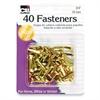 "CLI Round Head Paper Fastener - 0.8"" Diameter - 40 Pack - Brass"