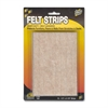 "Master Caster Scratch Guard Felt Pads - 16 Pad of 0.50"" Length x 5.87"" Width - Rectangle - Self-adhesive - Beige - Polyester - 1/Pack"