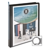 "Standard Presentation Binder - 1/2"" Binder Capacity - Letter - 8 1/2"" x 11"" Sheet Size - 25 Sheet Capacity - Ring Fastener - 1 Internal Pocket(s) - Black - 1 Each"