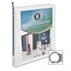 "Business Source Standard View Binders - 1/2"" Binder Capacity - Letter - 8 1/2"" x 11"" Sheet Size - 25 Sheet Capacity - 3 x Ring Fastener(s) - 1 Internal Pocket(s) - White - 1 Each"