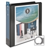 "Standard Presentation Binder - 2"" Binder Capacity - Letter - 8 1/2"" x 11"" Sheet Size - 25 Sheet Capacity - Ring Fastener - 1 Internal Pocket(s) - Black - Recycled - 1 Each"