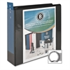 "Business Source Standard View Binders - 3"" Binder Capacity - Letter - 8 1/2"" x 11"" Sheet Size - 25 Sheet Capacity - Ring Fastener - 1 Internal Pocket(s) - Black - Recycled - 1 Each"