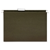 "Business Source Standard Hanging File Folder - Letter - 8 1/2"" x 11"" Sheet Size - 1/5 Tab Cut - 11 pt. Folder Thickness - Green - Recycled - 25 / Box"