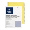 "Business Source Ring Binder Index Divider - 5 x Divider(s) - Blank - 5 Tab(s)/Set x 2"" Tab Width - 8.50"" Divider Width x 11"" Divider Length - Letter - 3 Hole Punched - Buff Buff Paper Divider - Clear"