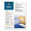 "Mailing Label - Permanent Adhesive - 1"" Width x 2.63"" Length - Rectangle - Laser - White - 7500 / Pack"