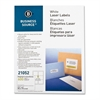 "Business Source Shipping Label - Permanent Adhesive - 3.33"" Width x 4"" Length - Rectangle - Laser - White - 600 / Pack"
