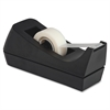 "Business Source Standard Desktop Tape Dispenser - 1"" Core - Non-skid Base - Plastic - Black"