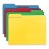 "Smead 100% Recycled Colored Folders - Letter - 8 1/2"" x 11"" Sheet Size - 1/3 Tab Cut - Assorted Position Tab Location - 11 pt. Folder Thickness - Assorted - Recycled - 100 / Box"