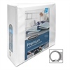 "CleanView Locking View Binder - 3"" Binder Capacity - Letter - 8 1/2"" x 11"" Sheet Size - Round Ring Fastener - White - 1 Each"