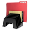 "Incline File Sorter - 5 Compartment(s) - 6"" Height x 8"" Width x 5.8"" Depth - Desktop - Black - 1Each"