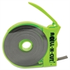 "Magnetic Tape with Self-Cutting Dispenser - 0.50"" Width x 15 ft Length - Dispenser Included - Green Dispenser - 1 / Roll - Black"