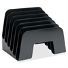 "Incline Desk Sorter - 6 Compartment(s) - 6.5"" Height x 7.9"" Width x 6.3"" Depth - Desktop - Black - 1Each"