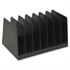 "Sparco 7-slot Desk Sorter - 7 Compartment(s) - 4.5"" Height x 8.9"" Width x 5.6"" Depth - Desktop - Black - 1Each"