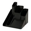 "Desk Organizer - 5 Compartment(s) - 6"" Height x 6"" Width x 6"" Depth - Desktop - Black - 1Each"