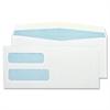 "Double Window Envelope - Double Window - #10 - 4.13"" Width x 9.50"" Length - 24 lb - Gummed - Wove - 500 / Box - White"