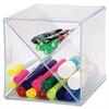 "Sparco X-Cube Storage Organizer - 6"" Height x 6"" Width x 6"" Depth - Desktop - Clear - 1Each"